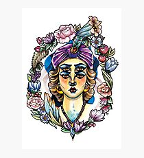 Madame Floral Photographic Print