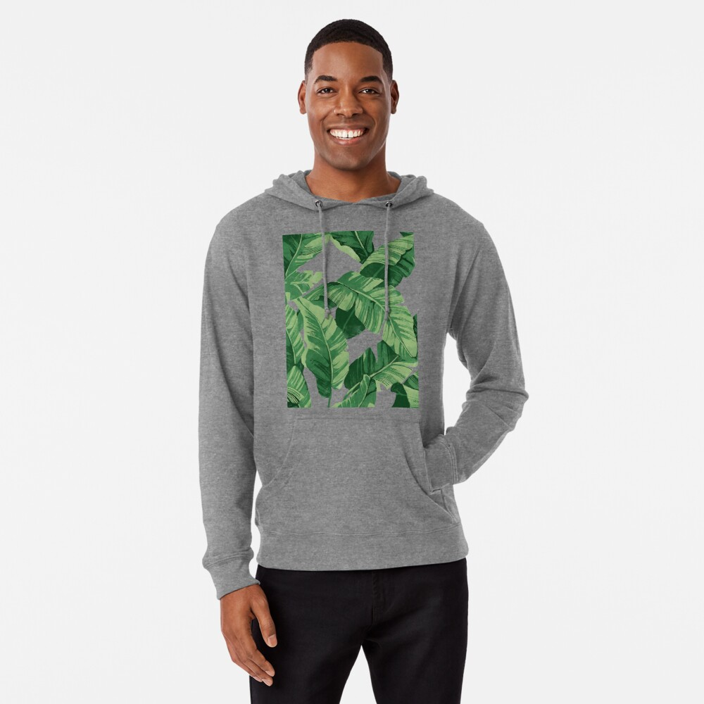 Tropical banana leaves II Lightweight Hoodie