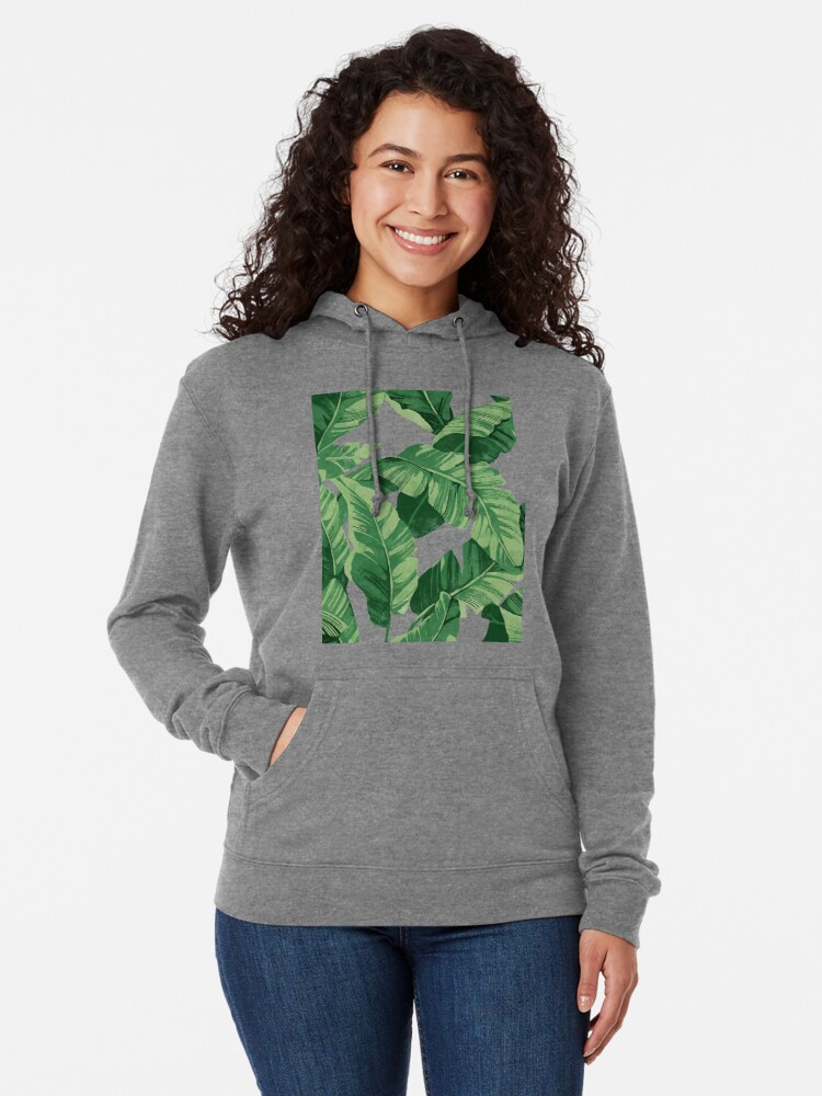 Alternate view of Tropical banana leaves II Lightweight Hoodie