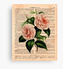 Pink Camellias on Corinthians Canvas Print