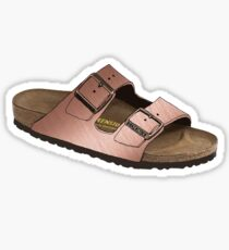 Rose Gold Birkenstocks Sticker