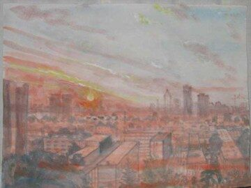 Beijing Sunset by Amy Hamilton