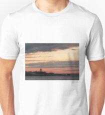 Painted sky over ten pound island light Unisex T-Shirt