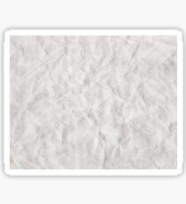 Crumpled White Paper Texture Sticker