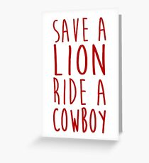 Save a Lion Greeting Card