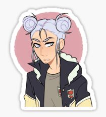 Space bun Squalo Sticker