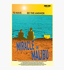 Miracle in Malibu Movie Poster Photographic Print