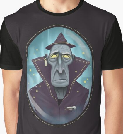 Hipster Wizard Graphic T-Shirt