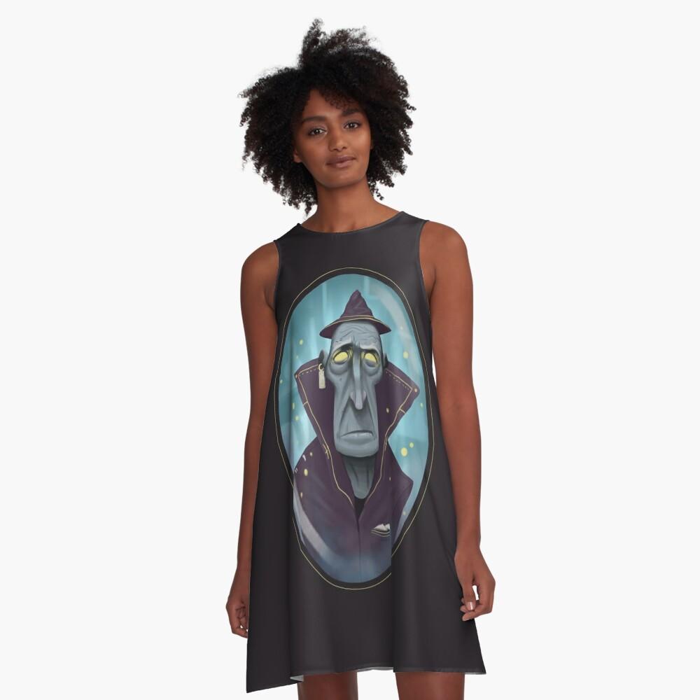 Hipster-Assistent A-Linien Kleid