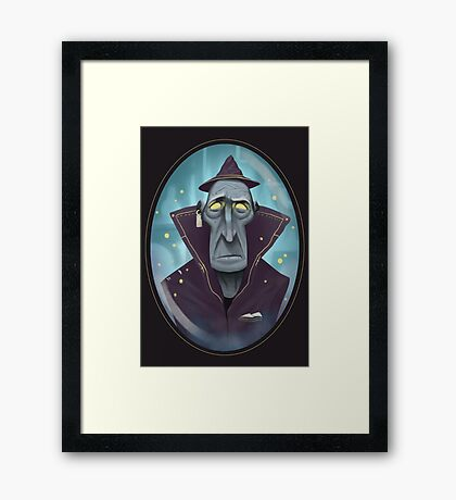 Hipster Wizard Framed Print