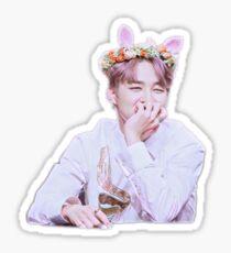 """""""Flower Bunny"""", Jimin Sticker Sticker"""