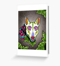 Bull Terrier - Day of the Dead Sugar Skull Dog Greeting Card
