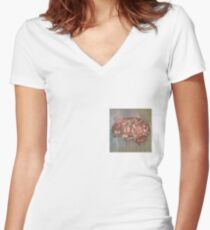 Love on the Brain Women's Fitted V-Neck T-Shirt