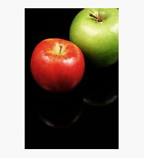 Apples close up on a black background Photographic Print