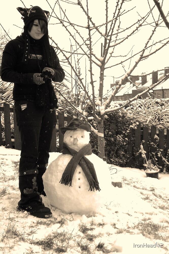 Tweek with snowman by IronHead42