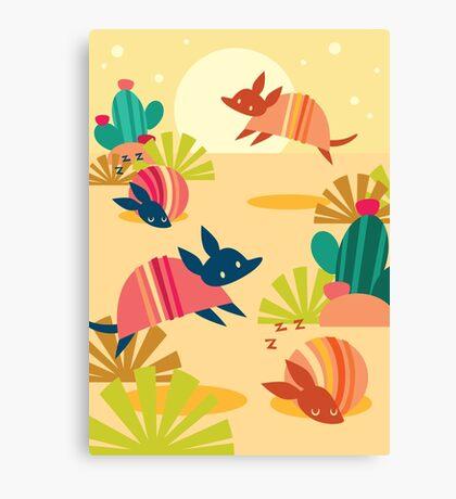 Happy Armadillos Canvas Print