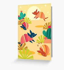 Happy Armadillos Greeting Card