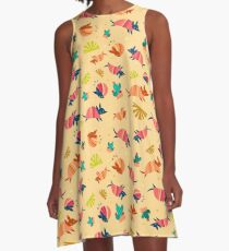 Happy Armadillos A-Line Dress