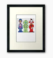 Mystery Inc, Mugshots Framed Print