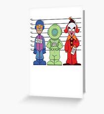 Mystery Inc, Mugshots Greeting Card