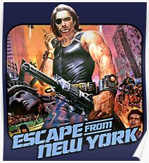 Escape (80s Iron-On Style) Poster