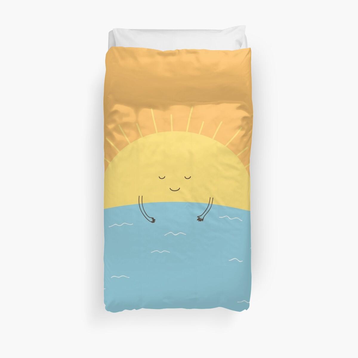 Good Morning Sunshine Quilt Cover : Quot good morning sunshine duvet covers by milkyprint