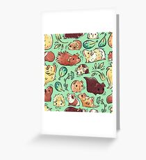 Guinea Pig Huddle Greeting Card