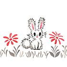 Rabbit In The Grass  by Paigekotalik