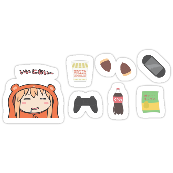 umaru sticker pack stickers by penchum redbubble