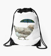 Améraucana sous la pluie Drawstring Bag