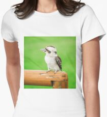 Kookaburra gracefully resting during the day Womens Fitted T-Shirt