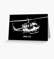 Bell 212 Helicopter Greeting Card