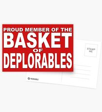 PROUD MEMBER OF THE BASKET OF DEPLORABLES Postcards