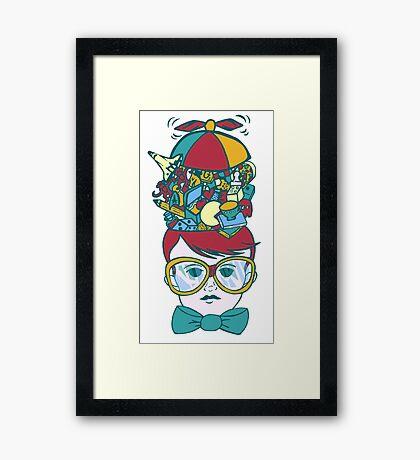 Brainy Framed Print