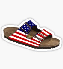 America the Birkenstock Sticker