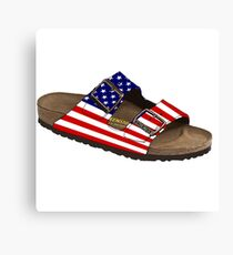 America the Birkenstock Canvas Print