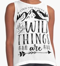 Find Me Where The Wild Things Are {Black Version} Contrast Tank