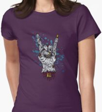 Zombie Metal Severed Hand! Womens Fitted T-Shirt