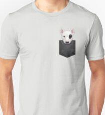 Bull Terrier in Chest Pocket T-Shirt