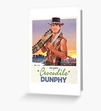 Crocodile Dunphy Greeting Card
