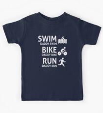 Daddy Swim Bike Run Kids Tee