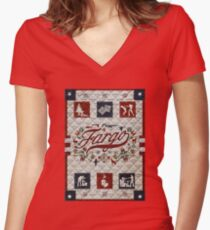 The Best Fargo Logo Women's Fitted V-Neck T-Shirt