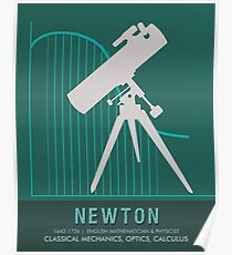 Science Posters - Sir Isaac Newton - Physicist, Mathematician, Astronomer Poster