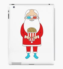 Santa Claus with popcorn and 3D glasses iPad Case/Skin