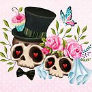 Together Forever - Sugar Skull Bride & Groom by sandygrafik