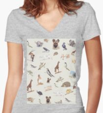 Lodge décor - Wildlife festival Women's Fitted V-Neck T-Shirt