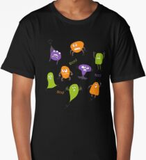 Colorful funny monsters Long T-Shirt