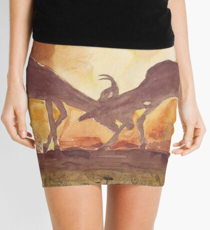 Lodge décor - Territorial Dance in the African sunset Mini Skirt