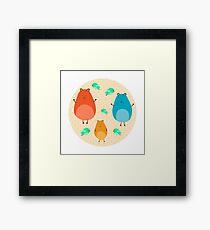 Cartoon funny hamsters Framed Print