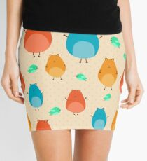 Cartoon funny hamsters Mini Skirt